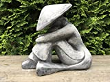 Steinfigur Figur Skulptur Garten Deko Teich Deko Figur Feng Shui