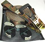 WOSS Gear, 2in Slackline, 50ft set, Camo & Black- Made in USA
