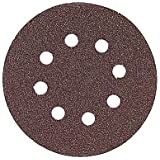 Bosch SR6R062 Random Orbit Sander Hook and Loop 6 Hole Disc 6-Inch 60 Grit Sand Paper, Red, 25-Pack
