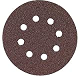 Bosch SR6R322 Random Orbit Sander Hook and Loop 6 Hole Disc 6-Inch 320 Grit Sand Paper, Red, 25-Pack