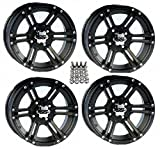 "ITP SS212 ATV Wheels/Rims Black 12"" Arctic Cat TBX MudPro Wildcat (4)"