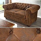 Couch Chesterfield Braun 200x90 Cm Antik Optik