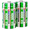 "7dayshop ""GOOD TO GO"" Pre-Charged Rechargeable D Cell (HR20 / MN1300) NiMh Batteries (4000mAh) - 2 Pack"