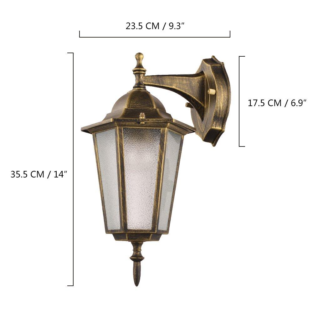 NATSEN Vintage Village Wall Sconce 1-Light Wall lamp E26 Metal max E26 60W bulb 4