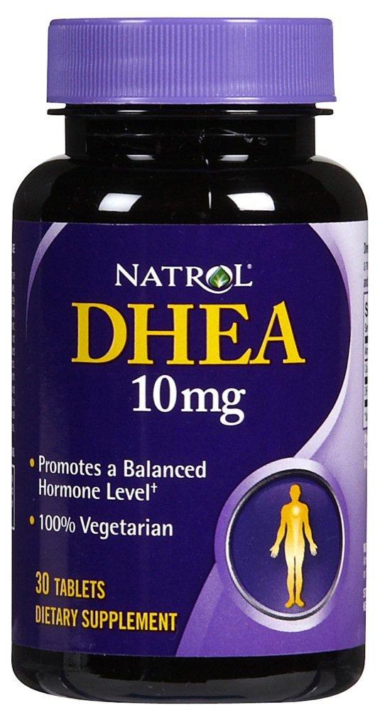 Natrol DHEA 10 mg Vegetarian Tablets, 30 Count - 8 Pack natrol heart health coenzyme q 10 50 mg 60 capsules single item