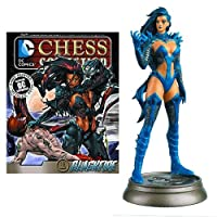 DC Superhero Blackfire Black Pawn Chess Piece with Collector Magazine