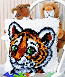 Caron WonderArt Latch Hook Rug Kit - Tiger Cub