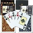 Trademark Copag Bridge Size Jumbo Index - Gold Line Script Setup Playing Cards (Multi)