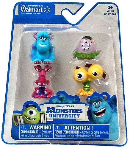 Disney / Pixar Monsters University Exclusive Mini Figure 4-Pack Sulley, Terri & Terry, Scott 'Squishy' Squibbles & TBA - 1