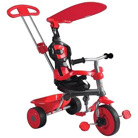 Tricycle 3 en 1 - auvent et arceau de sécurité - enfant - rouge