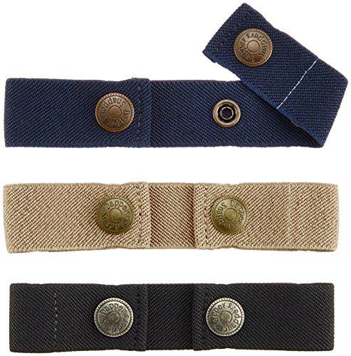 Dapper Snapper Baby & Toddler Adjustable Belt- Boy's Colors: Navy, Beige and Black