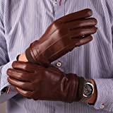 Cyrilus Men Touch screen Cashmere lined Genuine LAMBSKIN leather Luxury Gloves CYM09