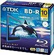 TDK �^��p�u���[���C�f�B�X�N BD-R 25GB 1-4�{�� �z���C�g���C�h�v�����^�u�� 10�� 5mm�X�����P�[�X BRV25PWB10A