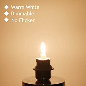 GMY 4Pack - 100 Watt JD E11 T4 Mini Candelabra Base JDE11 120V 100W 1600lm 2800K Clear Dimmable Halogen Light Bulbs (Color: Warm White, Tamaño: 100W JDE11 4Pack)