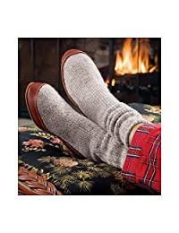 ACORN Ragg Wool Slipper Socks with Suede Outsole