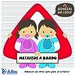 Detalles Infantiles - Bebé a bordo mellizos. triángulo adhesivo para el coche por La Lluna