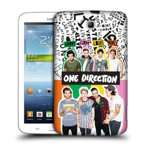 Official One Direction 1D Collage Locker Art Group Hard Back Case Cover for Samsung Galaxy Tab 3 7.0 P3200 T210 WiFi (One Direction Samsung Tab 3 Case compare prices)
