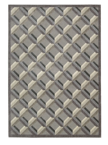 Nourison Graphic Illusions Rug, Stone, 5' 3