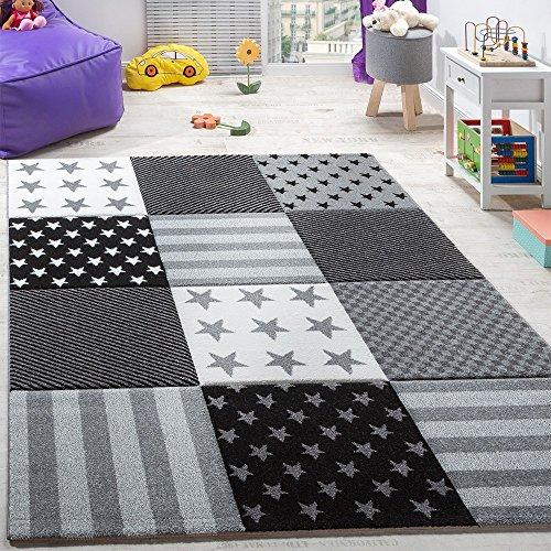 alfombra-infantil-de-velour-corto-con-diseno-de-estrellas-y-cuadros-gris-negro-grosse80x150-cm