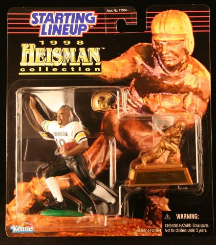 RASHAAN SALAAM / UNIVERSITY OF COLORADO BUFFALOES * 1998 NCAA College Football HEISMAN COLLECTION Starting Lineup Action Figure, Football Helmet & Miniature 1994 Heisman Memorial Trophy by Starting Line Up jetzt kaufen