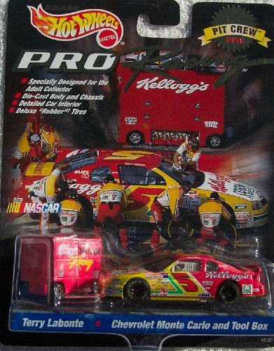 1998 Hot Wheels Pro Racing Pit Crew Terry Labonte #5 Kellogg's Die Cast Car w/Tool Box (Terry Price Ware compare prices)
