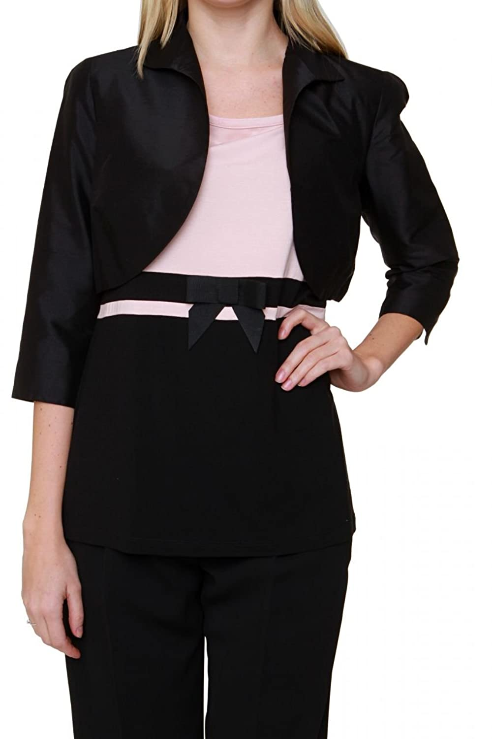 Luisa Spagnoli Silk Bolero VALDES, Color: Black плащ luisa spagnoli плащ