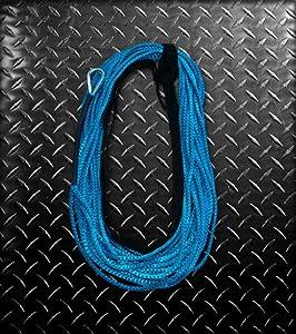 AmSteel Blue 3/16 x 50 Foot ATV Winch Rope by Custom Splice