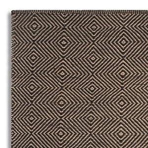 homescapes naturfaser teppich vorleger 60 x 100 cm 100 jute teppich schwarz beige geometrisches. Black Bedroom Furniture Sets. Home Design Ideas