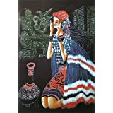 """Dolls Of India """"Beautiful Lady"""" Reprint On Paper - Unframed (43.18 X 27.94 Centimeters)"""