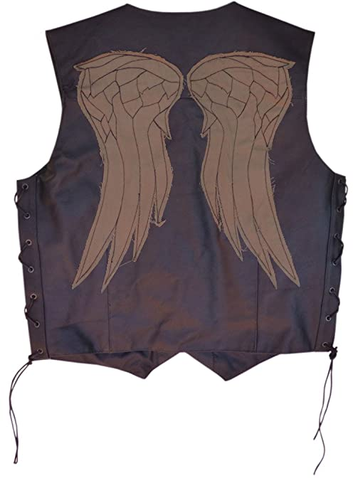 Daryl Dixon The Walking Dead Leather Vest, X-Large Size 44