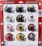 Riddell Pocket Pro Speed Helmet PAC 12 Conference Set 12 Helmets - Arizona, Arizona State, Cal, Colorado, Oregon, Oregon State, Stanford,UCLA, USC, Utah, Washington,Washington State Helmets - 2018 Set