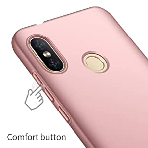 Toppix Xiaomi Redmi 6 Pro Case, Xiaomi Mi A2 Lite Case, Hard PC Backcover [Anti-Scratch] [Ultra-Light] Slim Shell Protective Cover for Xiaomi Redmi 6 Pro/Mi A2 Lite (Rose Gold)