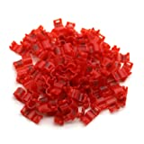 ADHERETOFLY 100 Pcs Number 1-100 Birds Clip Ring Colorful Plastic Legs Rings Acacia Birds Pigeon All Kinds of Birds (4 mm, Red) (Color: Red, Tamaño: 4 mm)