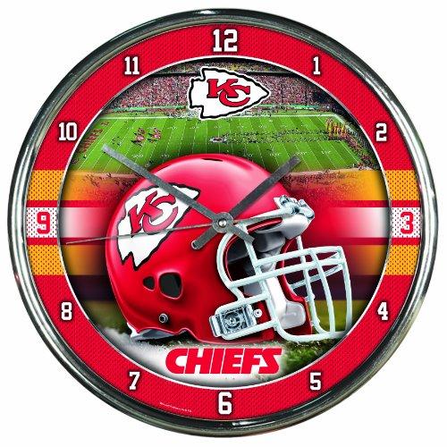 NFL Kansas City Chiefs Chrome Clock