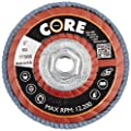 "CoreTemp 76560 Type 29 Regular Density Abrasive Flap Disc with Plastic Turbo Backing, Metal Threaded Hub, Zirconium, 5"" Diameter, 5/8""-11 Arbor, 60 Grit  (Pack of 5)"