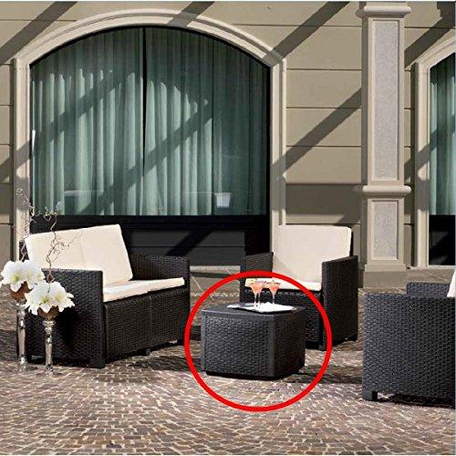 Beistelltisch Garten Rattantisch Gartenmöbel Tisch Polyrattan Teetisch Rattan günstig online kaufen