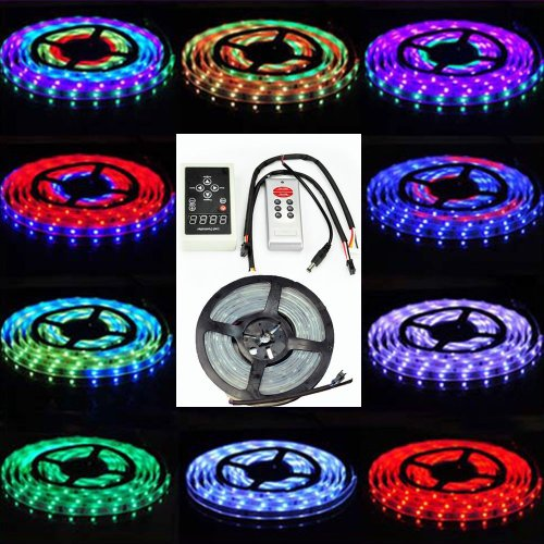 Siga® 16.4Ft 5M 150Leds 5050 Rgb Dream Color 6803 Ic Led Strip Light Waterproof+ Rf Rmote