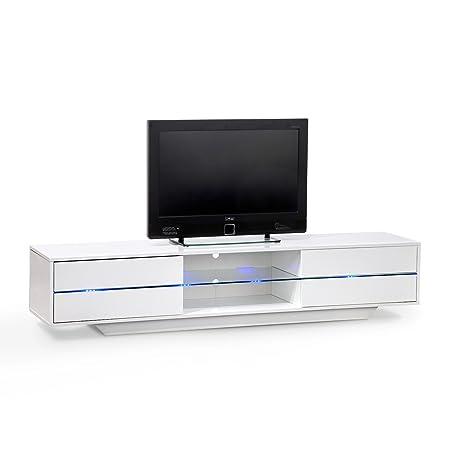 ROLLER TV Lowboard BLUES - weiß hochglanz - LED-Beleuchtung