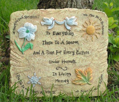 Memorial Garden Plaque In Loving Memory Message Engraved