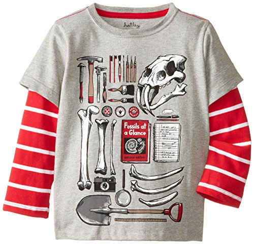 Hatley Little Boys' 2 In 1 Tee, Gray, 8 front-941148