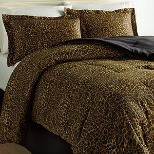 Scent sation wild life 4 piece comforter set queen leopard cheetah print bed sets - Cheetah print queen comforter set ...
