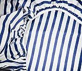 Vizaro - Funda / S�bana ajustable para Cambiador de beb� - 70 x 50 cm - 100% Algod�n Alta Calidad - Colecci�n Barquito - Color Azul y Blanco - Controlado contra sustancias nocivas - Fabricado en la UE