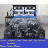 CASA Photoreal New York City Bed-In-A-Bag Comforter Set, Queen