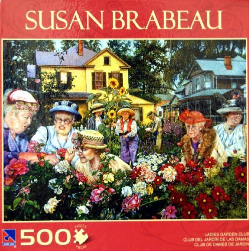 Art of Susan Brabeau LADIES GARDEN CLUB Puzzle 500 Piece