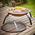 Vonhaus Copper Effect Fire Pit Folding Garden Bbq Bowl Outdoor Camping Log Charcoal Patio Heater With Carry Bag Free Extended 2 Year Warranty from VonHaus