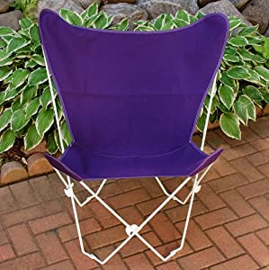 Retro Folding Butterfly Chair And Violet
