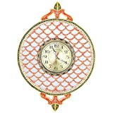 Art-n-crafts Unique Beautiful Handicraft Marble Wall Clock With Jaali Work