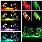 Ptatoms Wireless Remote Controller Million Colors Accent Neon 120 LED lights 12pcs 15 Color RGB LED Flexible Motorcycle Lights Kit