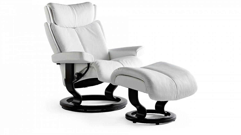 Stressless® Magic Sessel mit Hocker (S) Weiß günstig günstig kaufen
