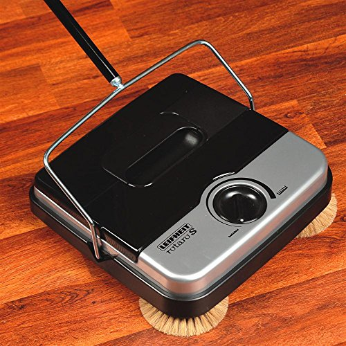 """11"""" Non-Electric Floor Sweeper With Corner Brushes"""